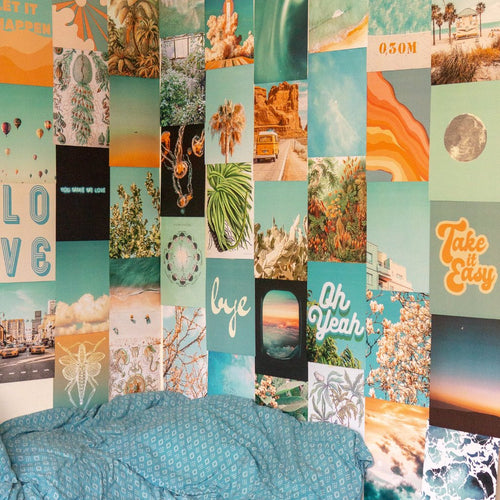Summer Blue Collage Kit - Collage Wall Decor
