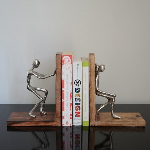 Sculptural Metal Bookends
