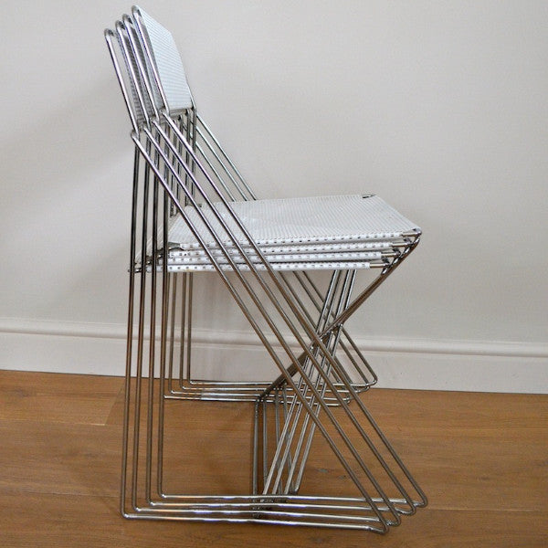 4 Stackable X-Line Chairs by Niels Jørgen Haugesen