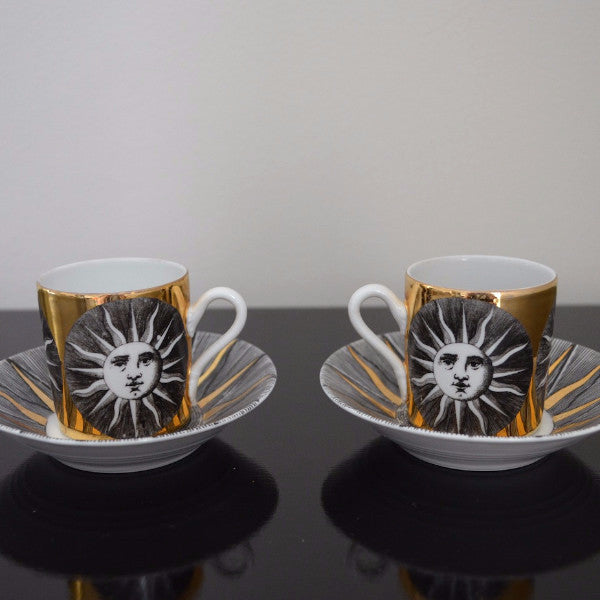 Fornasetti Sole Coffee Cup & Saucer