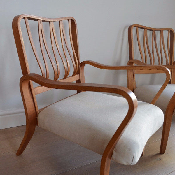 "Pair of G.A. Jenkins for Tecta ""Linden"" Armchairs"