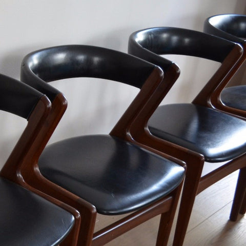 6 Danish Modern Teak Dining Chairs