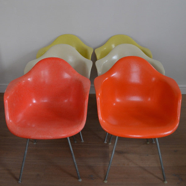 6 DAX Armchairs by Charles and Ray Eames