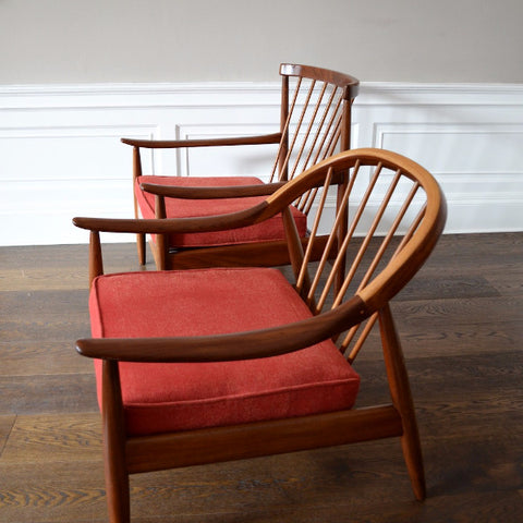 Pair of Greaves & Thomas Armchairs