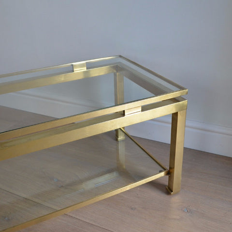 Glass Coffee Table by Guy Lefèvre