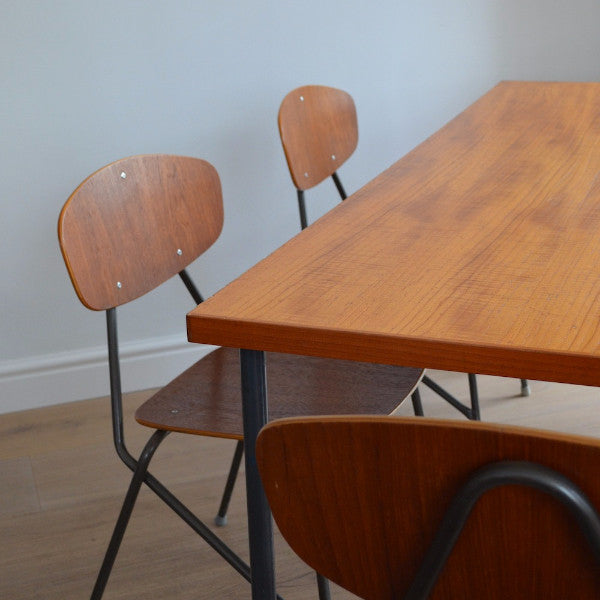 Remploy Dining Table and Stacking Chairs