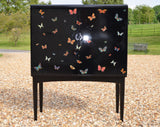 Rare Lacquered Bar Cabinet