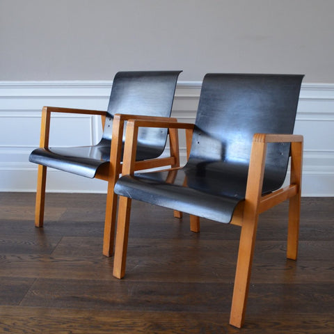 Model 51 Hallway Armchairs by Alvar Aalto