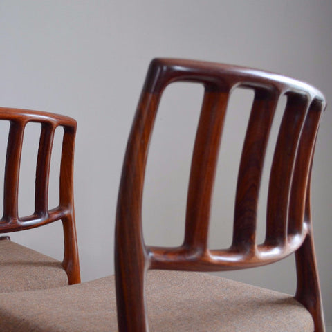 6 Niels Møller Model 83 Dining Chairs