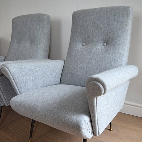 Pair of Italian 1950s Armchairs