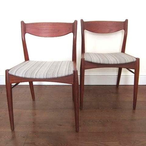 Pair of 1960s Teak Chairs