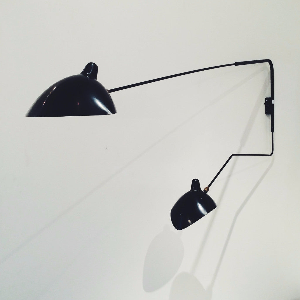 Serge Mouille 2 Arm Wall Light