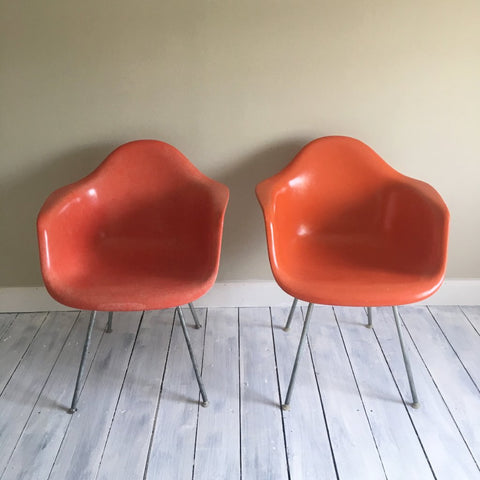 Pair of Eames DAX Armchairs