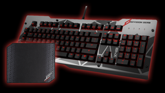 Das Keyboard Gaming Bundle: X40 Pro Gaming Mechanical Keyboard + Flex Mouse Pad, Mechanical Keyboard