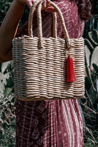 Bliss Tote Straw HandBag