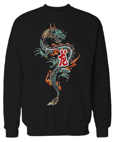 Fired Up Dragon Crewneck