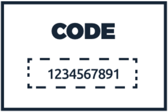 Code card, as found in your home sampling kit