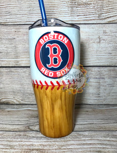 Boston Redsox Baseball Tumbler