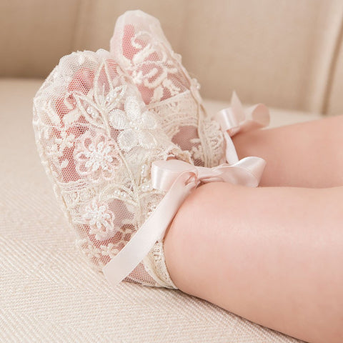 Jessica Girls Lace Booties
