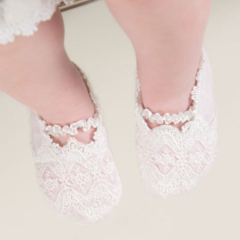 Amy Christening Booties - Girls Booties