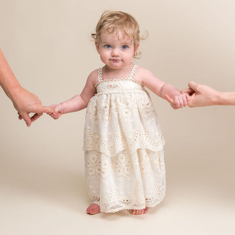 Clementine Christening Dress & Bloomer - Girls Christening Dress