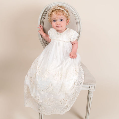 Clementine Christening Gown - Girls Christening Gown
