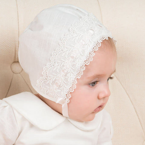 Emma Christening Bonnet - Girls Bonnet