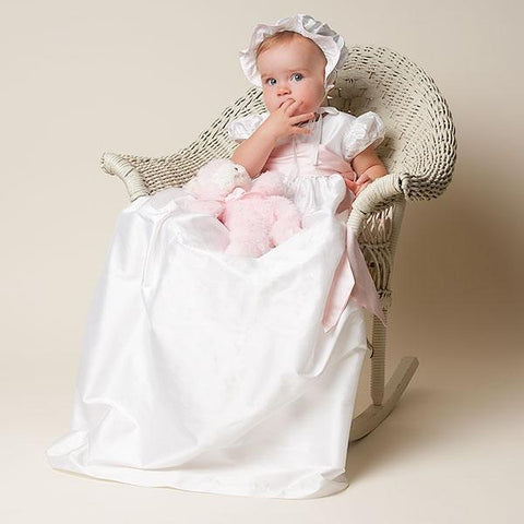 Jenna White Christening Gown (9-12mo Only) - Girls Christening Gown