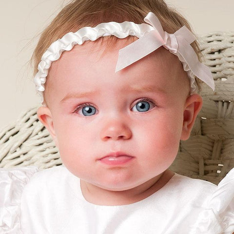 Jenna White Headband - Girls Headband