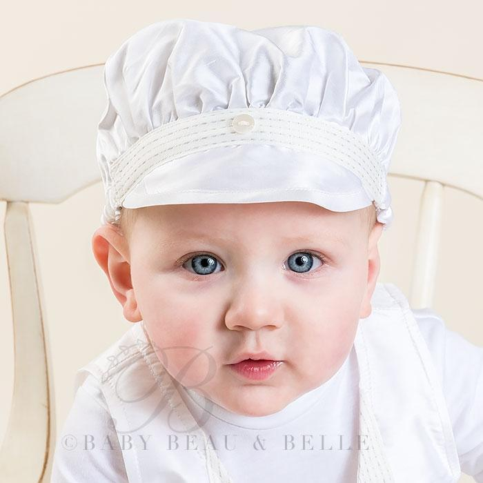 Newborn Boy Silk Brim Hat - Paul Christening   Baptism Collection – ADELINE    FRANKIE e97c129beb0