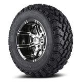 12x7 Aggressor on 23x9.5x12 Hammer - Custom Golf Cart Wheels and Tires