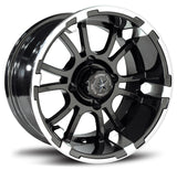 12x6.5 FA132 Sixer on 23x9.5x12R EFX Fusion ST - Custom Golf Cart Wheels and Tires
