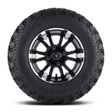 12x6.5 FA132M Sixer on 23x9.5x12 EFX Hammer - Custom Golf Cart Wheels and Tires