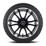 14x6.5 FA134M Sixer on 205x30x14 EFX Fusion ST - Custom Golf Cart Wheels and Tires