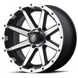 14x6.5 FA136M Rebel on 205x30x14 EFX Fusion ST - Custom Golf Cart Wheels and Tires