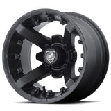 12x7 FA138M Battle on 23x9.5x12 EFX Hammer - Custom Golf Cart Wheels and Tires