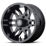 FA9910 (Pop-In) Crest Cap (Gloss Black) - Custom Golf Cart Wheels and Tires