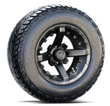 12x7 FA138M Battle on 23x9.5x12R EFX Fusion ST - Custom Golf Cart Wheels and Tires