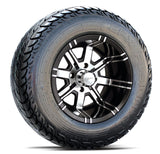 12x7 FA119M Aggressor on 23x9.5x12R EFX Fusion ST - Custom Golf Cart Wheels and Tires