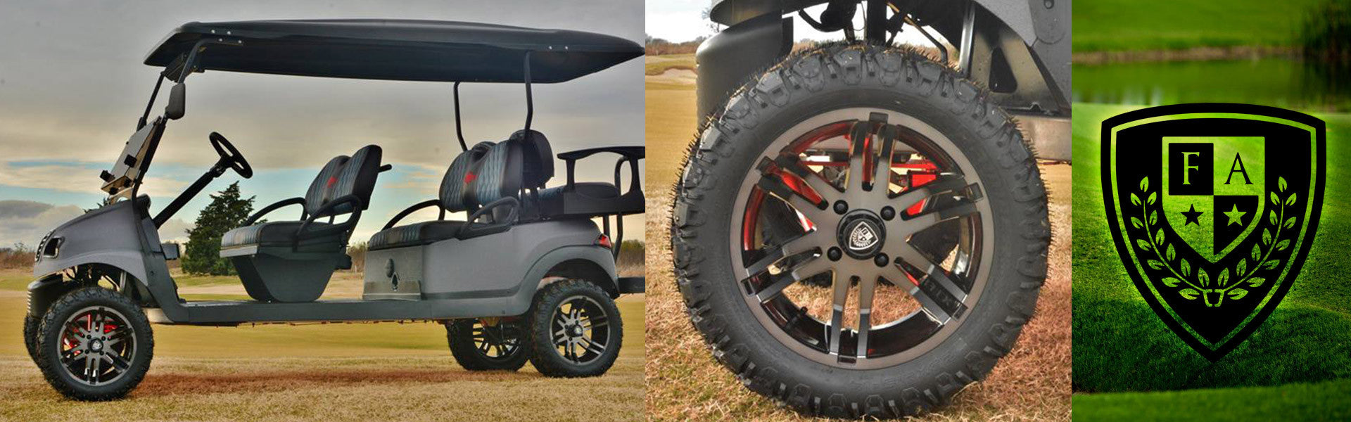 Fairway Alloys Golf Cart Wheels and Tires