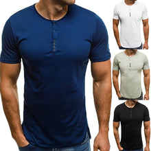 Load image into Gallery viewer, Fashion Casual T-Shirts Men Basic Color Short