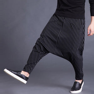 Brand Men's Pants Hiphop Harem Cross-pants