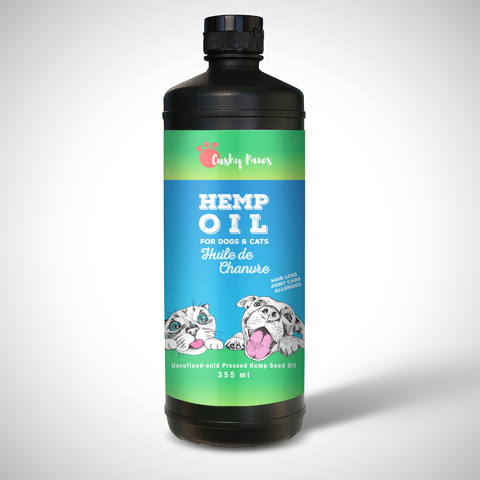 Hemp Oil 355ml - For Dogs & Cats