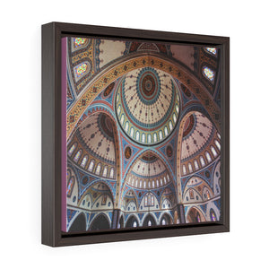 Square Framed Premium Canvas - Merkez Kulliye Cami or Manavgat Central Mosque - Turkey Islam