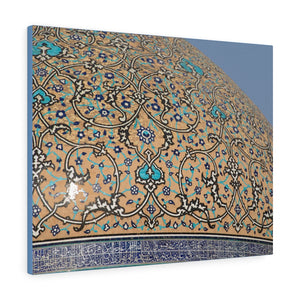 Printed in USA - Canvas Gallery Wraps - Sheikh Lotfallah Mosque cupola in Isfahan, Iran  - Islam