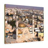 Printed in USA - Canvas Gallery Wraps -  Madaba in Jordan with the Central Mosque - Islam