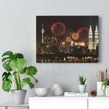 Printed in USA - Canvas Gallery Wraps - Celebrations in Kuala Lumpur  Malaysia - Federal Territory Mosque - Islam