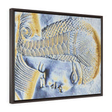 Horizontal Framed Premium Gallery Wrap Canvas - The Young Pharaoh closeup - Egypt - Ancient religions
