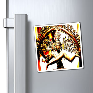 US Made - Magnets - The temples of Ancient India - Shiva Goddess radiating awareness, energy and love💘