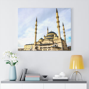 Printed in USA - Canvas Gallery Wraps - Mosque Kocatepe Camii, the largest Mosque in Ankara Turkey - Islam
